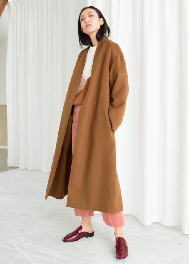 Belted Wool Blend Coat