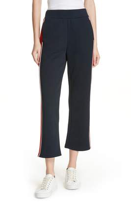 Frame High Waist Crop Track Pants