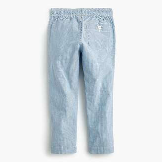 J.Crew Boys' pull-on pant in seersucker