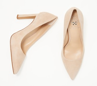 Vince Camuto Leather Pointed Toe Pumps - Sariela