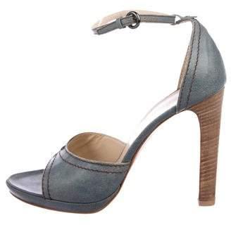 Miu Miu Open-Toe Ankle-Strap Heels