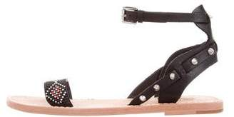 Ash Embellished Ankle Strap Sandals w/ Tags