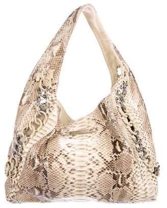 Michael Kors Python Chain-Link Hobo Bag