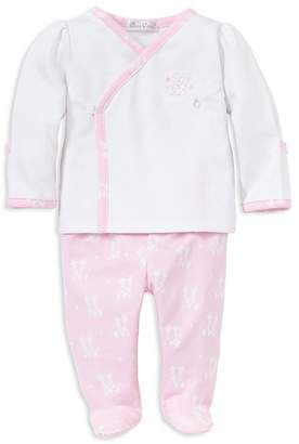 Kissy Kissy Girls' Embroidered Giraffe Shirt & Footed Pants Take Me Home Set, Baby - 100% Exclusive