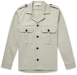 Séfr Jack Camp-Collar Cotton-Twill Shirt Jacket