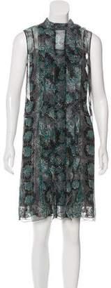 Prada Ruffled Chiffon Dress