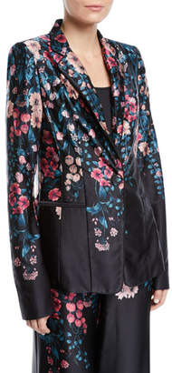 Nanette Lepore Balmore Floral Silk Blazer