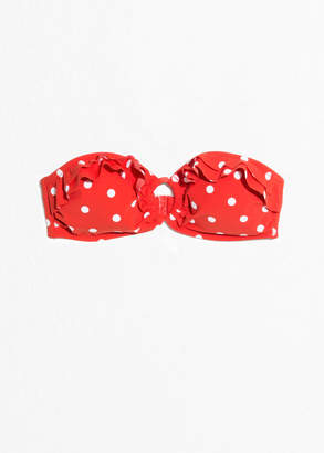 And other stories Ruffle Dotted Halter Bikini