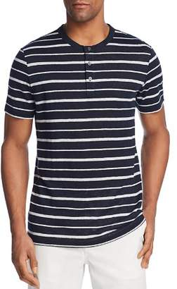 Theory Essential Striped Short Sleeve Henley - 100% Exclusive