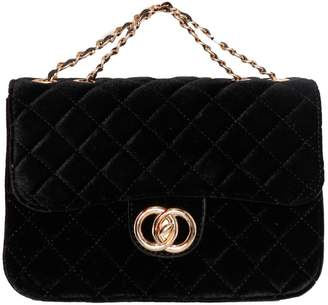 531025f86fa2 Missy Empire Missyempire Eda Black Quilted Gold Chain Bag
