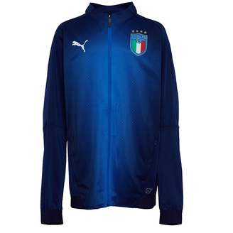 86097ce21dc5 Puma Boys FIGC Italy Stadium Jacket Peacoat Blue