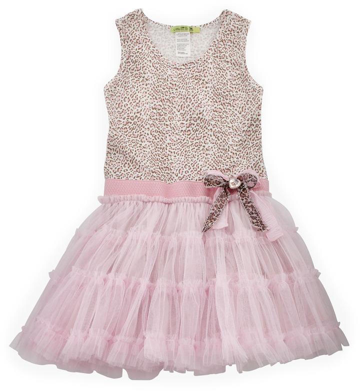 Mini Little Mass Leopard-Print Tutu Dress, Pink