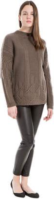 Max Studio heathered wool and alpaca pullover sweater