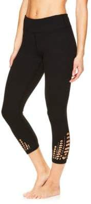 Gaiam Lena Laser-Cut Capri Leggings