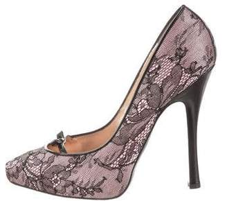 DSQUARED2 Lace Pointed-Toe Pumps