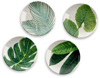 One Kings Lane Set of 4 Amazon Melamine Salad Plates - Green