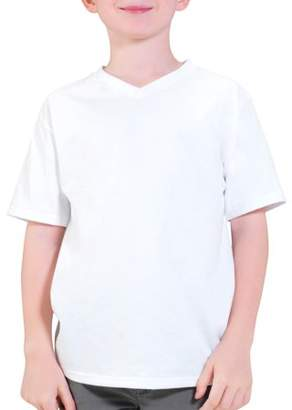 Fruit of the Loom Boys' Short Sleeve V-Neck T Shirt