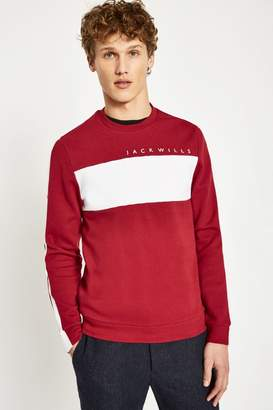 Jack Wills Dalling Colour Block Sweatshirt