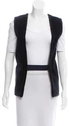 Reed Krakoff Leather-Trimmed Sheared Mink Vest