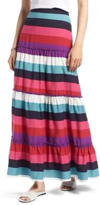 1901 Tiered Stripe Maxi Skirt