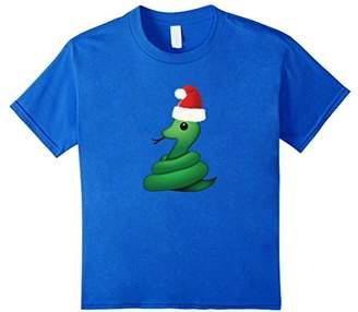 Snake & Santa Hat Emoji Ugly Christmas Tee Shirt