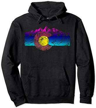 Colorado Flag Hoodie Colorful Rocky Mountains Version