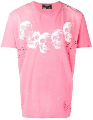 Dom Rebel distressed skull print T-shirt