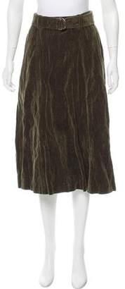 Max Mara Velvet Midi Skirt