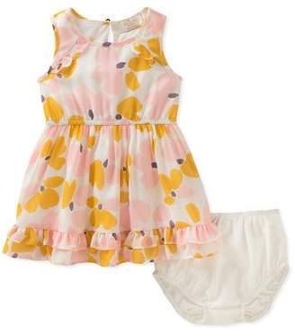 Kate Spade Floral Ruffle-Hem Dress W/ Bloomers, Size 12-24 Months