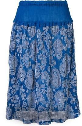 Issey Miyake botanical print skirt