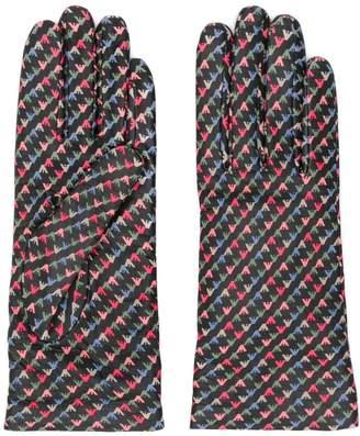 Emporio Armani logo colour-block gloves