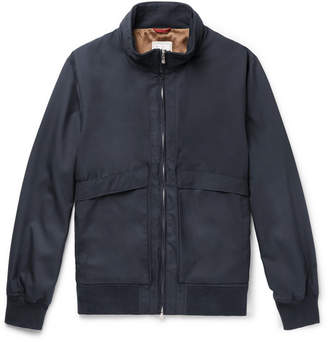 Brunello Cucinelli Wool-Blend Bomber Jacket - Men - Navy
