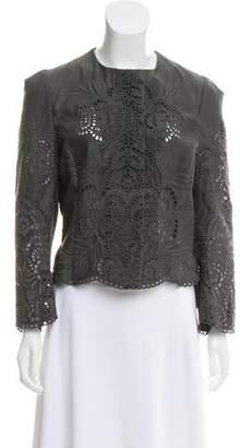 Stella McCartney Collarless Eyelet Jacket