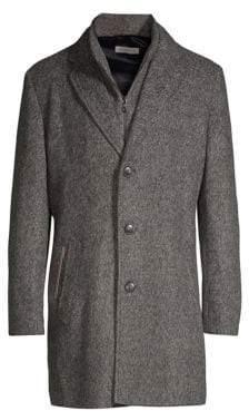 Bugatti Knit Wool Coat