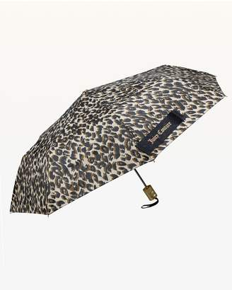 Juicy Couture Leopard Print Automatic Collapsible Umbrella