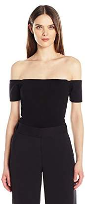 Halston Women's Margaux Ribbed Jersey Bodysuit