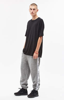 Pacsun Warm Up Fleece Side Stripe Grey Pants