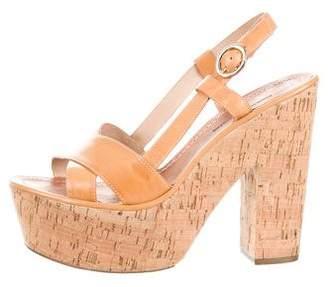 Diane von Furstenberg Multistrap Platform Sandals