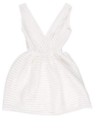 Aqua Sleeveless Mini Dress