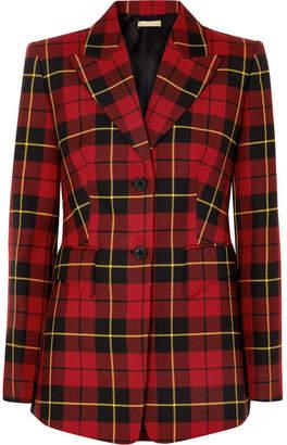 Michael Kors Collection - Tartan Wool-twill Blazer - Red