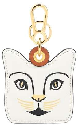 Loewe Cat leather bag charm