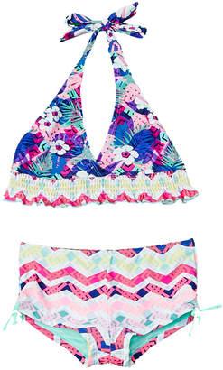 YMI Jeanswear Girls' Tropical Madness 2Pc Swimsuit