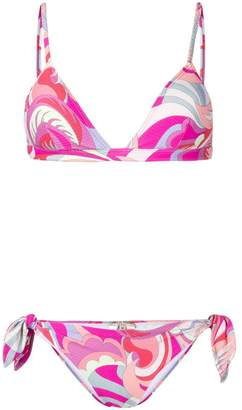 Emilio Pucci textured bikini set