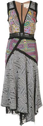 Nicole Miller asymmetric sleeveless dress $495 thestylecure.com