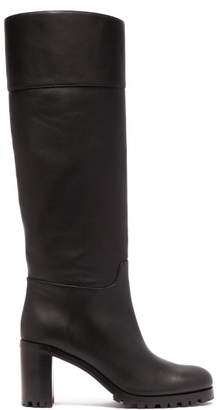 Christian Louboutin Kari 70 Leather Knee High Boots - Womens - Black
