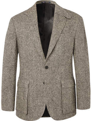 Polo Ralph Lauren Brown Slim-Fit Herringbone Wool Suit Jacket
