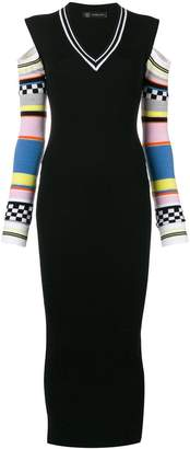Versace contrast sleeve knitted dress