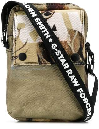 G Star Research printed messenger bag