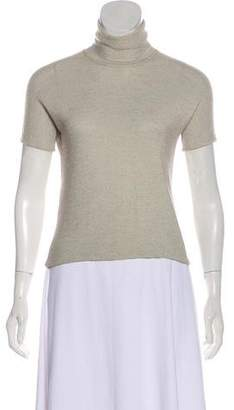 Giorgio Armani Short Sleeve Turtleneck Top