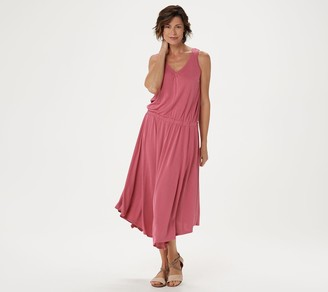 Lisa Rinna Collection Asymmetric Hem Tank Dress